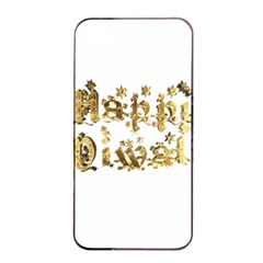 Happy Diwali Gold Golden Stars Star Festival Of Lights Deepavali Typography Apple Iphone 4/4s Seamless Case (black)