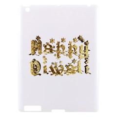 Happy Diwali Gold Golden Stars Star Festival Of Lights Deepavali Typography Apple Ipad 3/4 Hardshell Case
