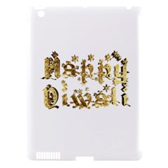 Happy Diwali Gold Golden Stars Star Festival Of Lights Deepavali Typography Apple Ipad 3/4 Hardshell Case (compatible With Smart Cover)