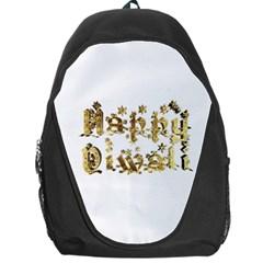 Happy Diwali Gold Golden Stars Star Festival Of Lights Deepavali Typography Backpack Bag