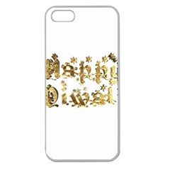 Happy Diwali Gold Golden Stars Star Festival Of Lights Deepavali Typography Apple Seamless Iphone 5 Case (clear)