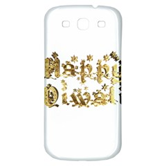 Happy Diwali Gold Golden Stars Star Festival Of Lights Deepavali Typography Samsung Galaxy S3 S Iii Classic Hardshell Back Case