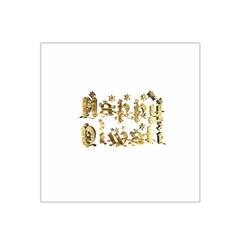 Happy Diwali Gold Golden Stars Star Festival Of Lights Deepavali Typography Satin Bandana Scarf