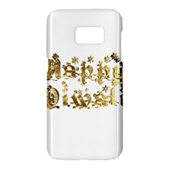 Happy Diwali Gold Golden Stars Star Festival Of Lights Deepavali Typography Samsung Galaxy S7 Hardshell Case