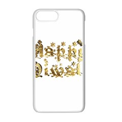Happy Diwali Gold Golden Stars Star Festival Of Lights Deepavali Typography Apple Iphone 7 Plus Seamless Case (white)