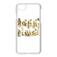 Happy Diwali Gold Golden Stars Star Festival Of Lights Deepavali Typography Apple Iphone 7 Seamless Case (white)