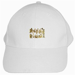 Happy Diwali Gold Golden Stars Star Festival Of Lights Deepavali Typography White Cap