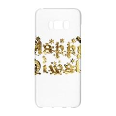 Happy Diwali Gold Golden Stars Star Festival Of Lights Deepavali Typography Samsung Galaxy S8 Hardshell Case