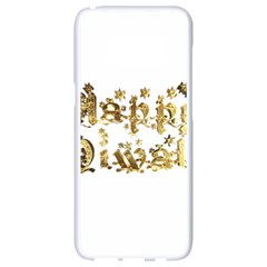 Happy Diwali Gold Golden Stars Star Festival Of Lights Deepavali Typography Samsung Galaxy S8 White Seamless Case