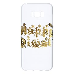 Happy Diwali Gold Golden Stars Star Festival Of Lights Deepavali Typography Samsung Galaxy S8 Plus Hardshell Case