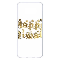 Happy Diwali Gold Golden Stars Star Festival Of Lights Deepavali Typography Samsung Galaxy S8 Plus White Seamless Case