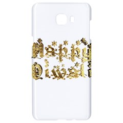 Happy Diwali Gold Golden Stars Star Festival Of Lights Deepavali Typography Samsung C9 Pro Hardshell Case