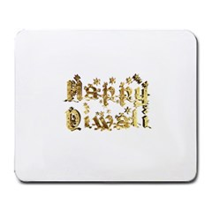 Happy Diwali Gold Golden Stars Star Festival Of Lights Deepavali Typography Large Mousepads