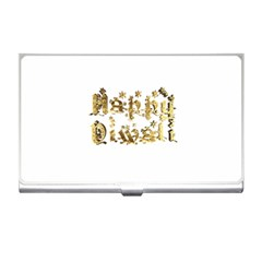 Happy Diwali Gold Golden Stars Star Festival Of Lights Deepavali Typography Business Card Holders
