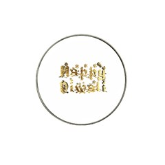 Happy Diwali Gold Golden Stars Star Festival Of Lights Deepavali Typography Hat Clip Ball Marker (10 Pack)