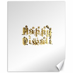 Happy Diwali Gold Golden Stars Star Festival Of Lights Deepavali Typography Canvas 16  X 20