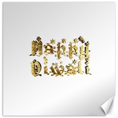 Happy Diwali Gold Golden Stars Star Festival Of Lights Deepavali Typography Canvas 20  X 20