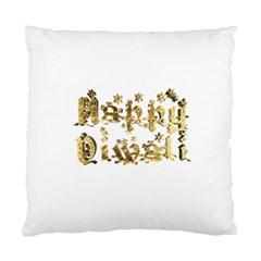 Happy Diwali Gold Golden Stars Star Festival Of Lights Deepavali Typography Standard Cushion Case (two Sides)