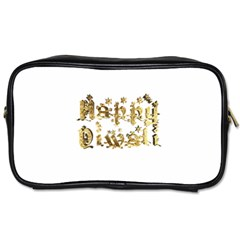 Happy Diwali Gold Golden Stars Star Festival Of Lights Deepavali Typography Toiletries Bags 2 Side