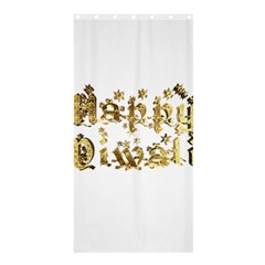 Happy Diwali Gold Golden Stars Star Festival Of Lights Deepavali Typography Shower Curtain 36  X 72  (stall)