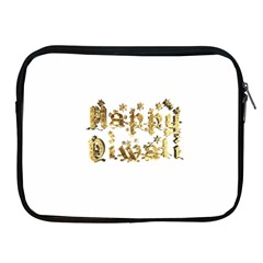 Happy Diwali Gold Golden Stars Star Festival Of Lights Deepavali Typography Apple Ipad 2/3/4 Zipper Cases