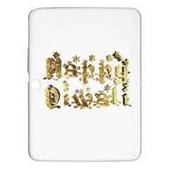 Happy Diwali Gold Golden Stars Star Festival Of Lights Deepavali Typography Samsung Galaxy Tab 3 (10 1 ) P5200 Hardshell Case