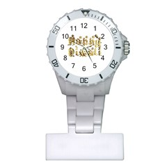 Happy Diwali Gold Golden Stars Star Festival Of Lights Deepavali Typography Plastic Nurses Watch