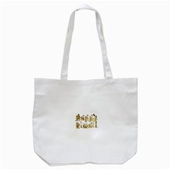 Happy Diwali Gold Golden Stars Star Festival Of Lights Deepavali Typography Tote Bag (white)