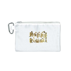 Happy Diwali Gold Golden Stars Star Festival Of Lights Deepavali Typography Canvas Cosmetic Bag (s)