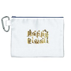 Happy Diwali Gold Golden Stars Star Festival Of Lights Deepavali Typography Canvas Cosmetic Bag (xl)