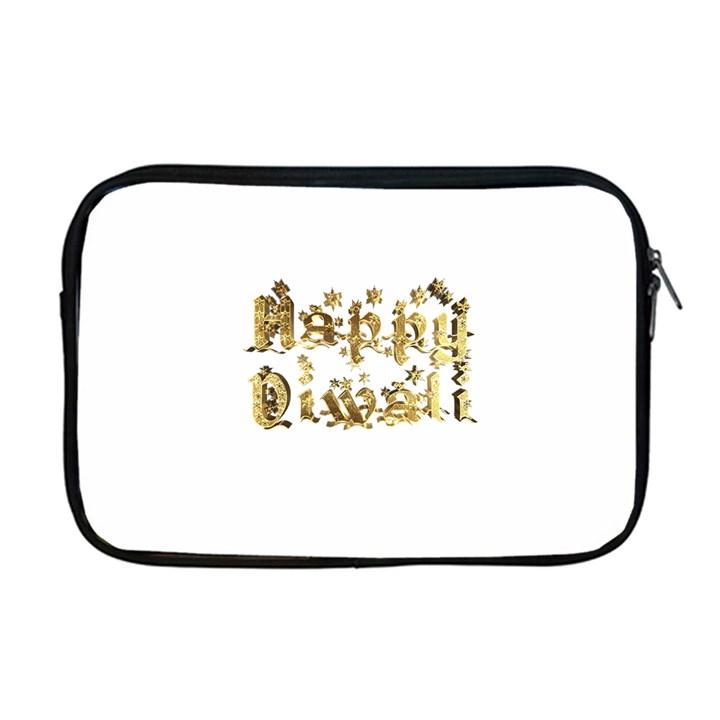 Happy Diwali Gold Golden Stars Star Festival Of Lights Deepavali Typography Apple MacBook Pro 17  Zipper Case