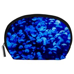Blue Jellyfish Accessory Pouches (large)