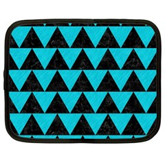 Triangle2 Black Marble & Turquoise Colored Pencil Netbook Case (xl)