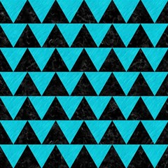 Triangle2 Black Marble & Turquoise Colored Pencil Magic Photo Cubes