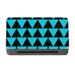 Triangle2 Black Marble & Turquoise Colored Pencil Memory Card Reader With Cf