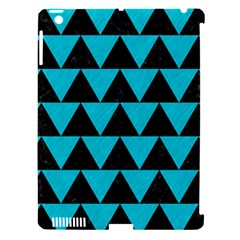 Triangle2 Black Marble & Turquoise Colored Pencil Apple Ipad 3/4 Hardshell Case (compatible With Smart Cover)