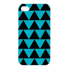 Triangle2 Black Marble & Turquoise Colored Pencil Apple Iphone 4/4s Premium Hardshell Case