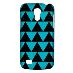 Triangle2 Black Marble & Turquoise Colored Pencil Galaxy S4 Mini