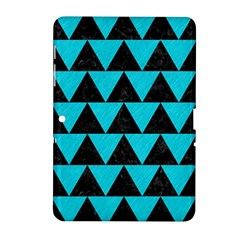 Triangle2 Black Marble & Turquoise Colored Pencil Samsung Galaxy Tab 2 (10 1 ) P5100 Hardshell Case
