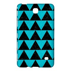 Triangle2 Black Marble & Turquoise Colored Pencil Samsung Galaxy Tab 4 (8 ) Hardshell Case