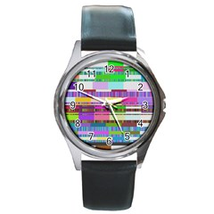 Error Round Metal Watch