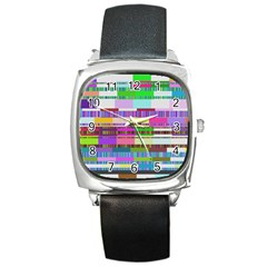 Error Square Metal Watch