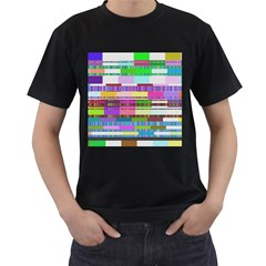 Error Men s T Shirt (black) (two Sided)