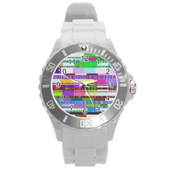 Error Round Plastic Sport Watch (l)