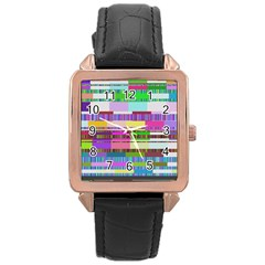 Error Rose Gold Leather Watch