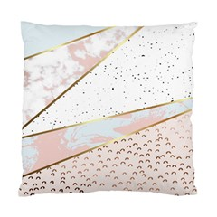 Collage,white Marble,gold,silver,black,white,hand Drawn, Modern,trendy,contemporary,pattern Standard Cushion Case (two Sides)