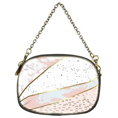 Collage,white Marble,gold,silver,black,white,hand Drawn, Modern,trendy,contemporary,pattern Chain Purses (two Sides)