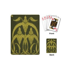 Art Nouveau Green Playing Cards (mini)