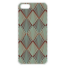 Art Deco Teal Brown Apple Iphone 5 Seamless Case (white)