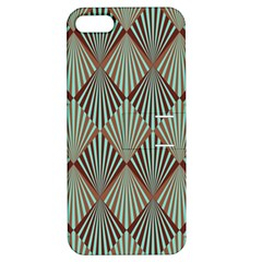 Art Deco Teal Brown Apple Iphone 5 Hardshell Case With Stand
